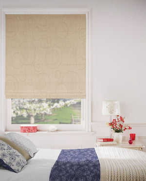 Totally Tan Roman Blinds