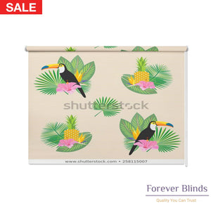 Tropical Palm Leaves Blockout Printed Roller Blinds
