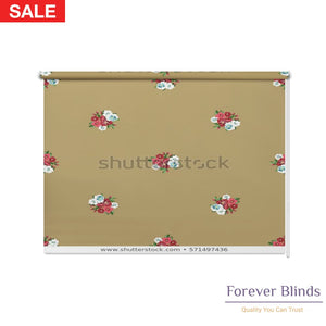 Vintage Flowers Blockout Printed Roller Blinds
