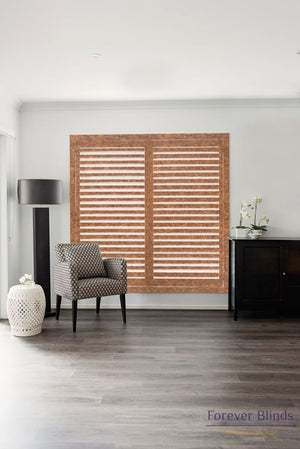 Walnut - Timber Stained Plantation Shutters