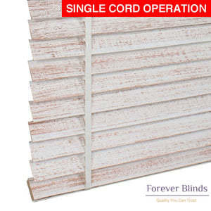 White Copper Matte Timber Venetian Blinds