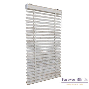 White Gold Matte Timber Venetian Blinds