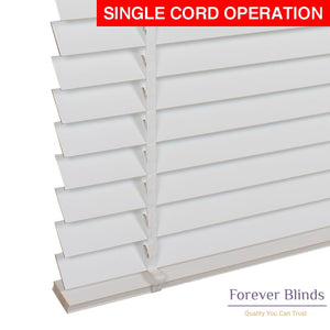 White Matte Timber Venetian Blinds