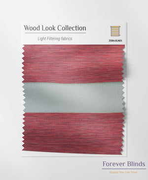 Wood Texture Cherry Red Zebra Blinds