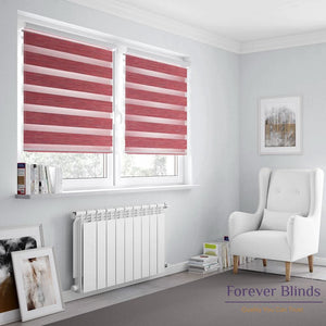 Wood Cherry - Zebra Blinds