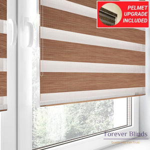 Wood Copper - Zebra Blinds