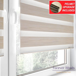 Wood Ivory - Zebra Blinds