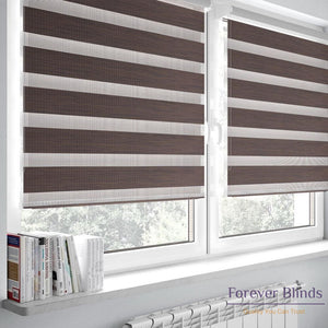 Wood Walnut - Zebra Blinds
