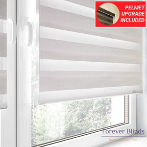 Wood White - Zebra Blinds