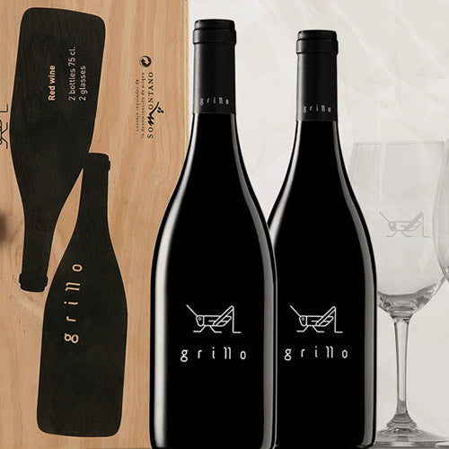 Pack 2 botellas Grillo + 2 copas Riedel