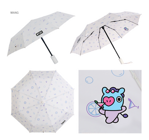 [現貨] Monopoly X BT21 Safety Automatic Folding Umbrella
