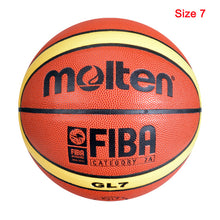 Load image into Gallery viewer, New High Quality Basketball Ball Official Size 7/6/5 PU Leather Outdoor Indoor Match Training Men Women  Basketball baloncesto