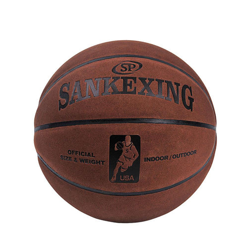 SANKWXING Brand Official Basketball Size 7 leather Basketball Balls Outdoor Men Basket Ball basquete 75cm Soft Free shipping