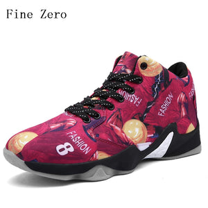 Fine Zero 2019 Men black red yellow  Basketball Shoes Sport Trainer Adult Basket ball Slip Resistant Man's Athletic Sneakers
