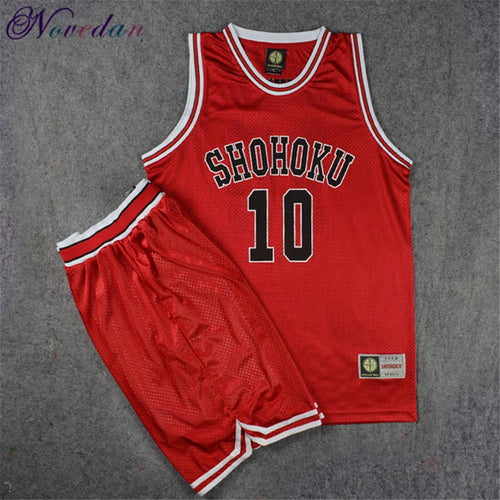 Slam Dunk Jersey Shohoku School Basketball Team Rukawa Hanamichi Sakuragi Shirt Sports Wear Uniform Anime Cosplay Costume