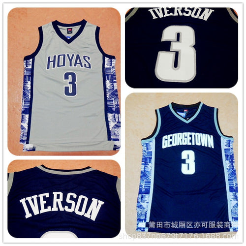 NBA Shirt Men's Iverson 3 NCAA College Version Basketball Wear Wholesale Vest Sports Clothing Training Suit on Behalf