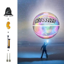 Load image into Gallery viewer, Holographic Basketball Wear-Resistant Luminous For Night Sports Great Gift Personalized Glowing Basketball Reflective Basketball