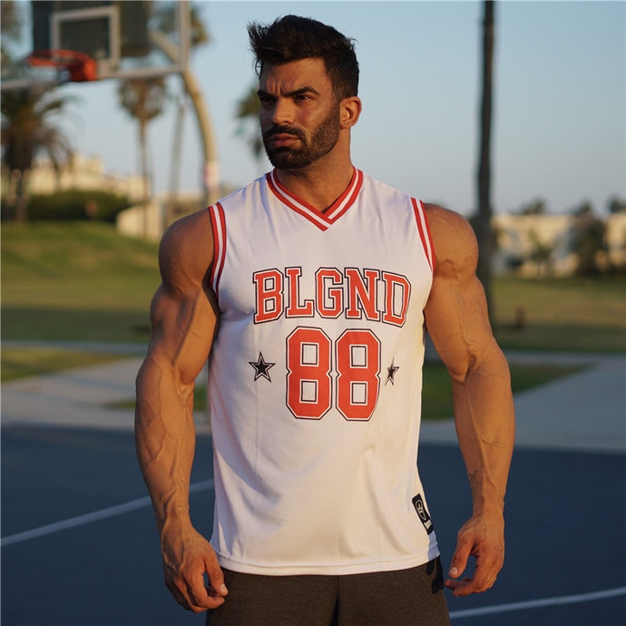 High Quality Mens Basketball Jersey Mesh Sleeveless Basketball T shirt Sport Top GYM Fitness Sport Shirts Quick Dry Basket Shirt