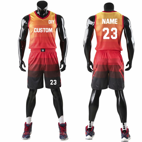 Top Quality Men Women Kids Basketball Jerseys Sets Uniforms Boys Sport Kit Clothing Shirts Shorts Suits Side Pockets Customized