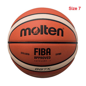 New High Quality Basketball Ball Official Size 7/6/5 PU Leather Outdoor Indoor Match Training Men Women  Basketball baloncesto