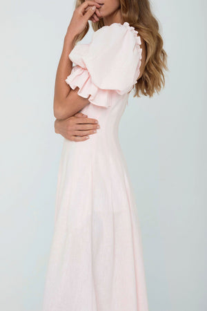 Kimberley Anne COASTLINES Linen Midi Dress