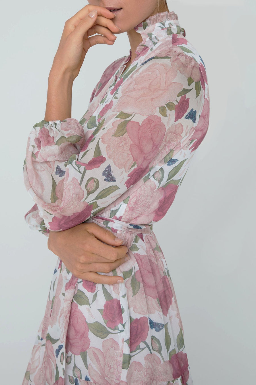 Coastlines Silk Floral Maxi Dress
