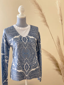 Betty & Co. Damen-Strickpullover mit Paisleymuster