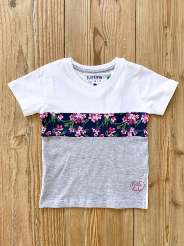 Kids/Girls-T-Shirt mit Blumenmuster