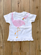Laden Sie das Bild in den Galerie-Viewer, Baby/Girls-T-Shirt Flamingo mit Rüschen