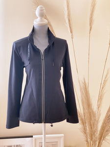 Cecil Damen-Sweatjacke Materialmix
