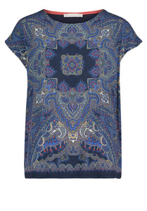 Betty & Co. Damen-T-Shirt mit Paisleymuster