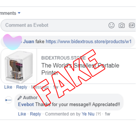 fake facebook ads, portable printer fake, scam