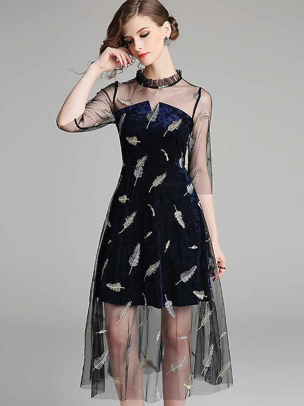 https://www.dresssure.com/collections/party-dresses/products/stylish-mesh-stitching-half-sleeve-midi-dress