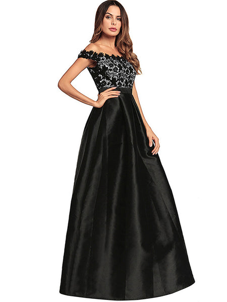 Party Vintage Slash Neck Sleeveless Bohemia Skater Evening Dress