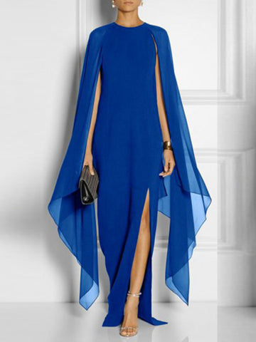 Party IrregularHigh Waist Chiffon Slit Maxi Dress