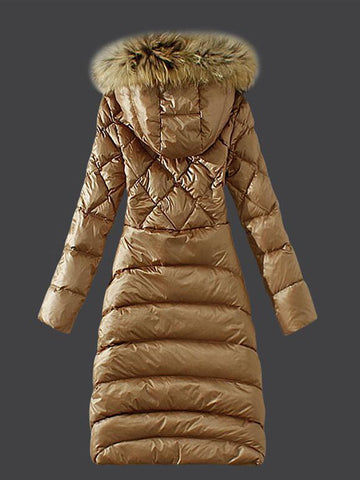 Elegant Cotton Silm Hooded Winter Coat