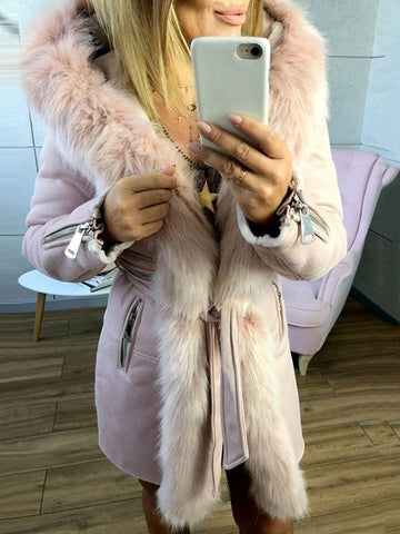 Silm Casual Hooded Long Sleeve Warm Coat