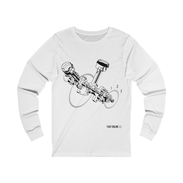 Car Engine | Unisex Long Sleeve Tee-That Online Company