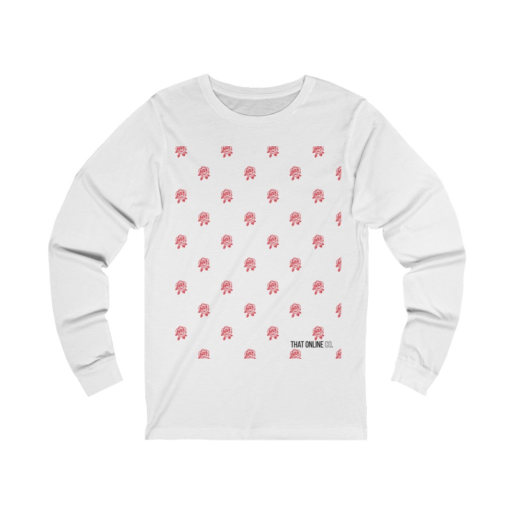 Red Rose | Unisex Long Sleeve Tee-That Online Company