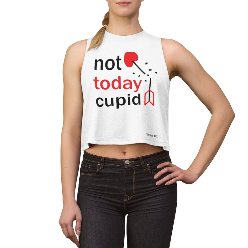 Not today cupid | Crop top-That Online Company