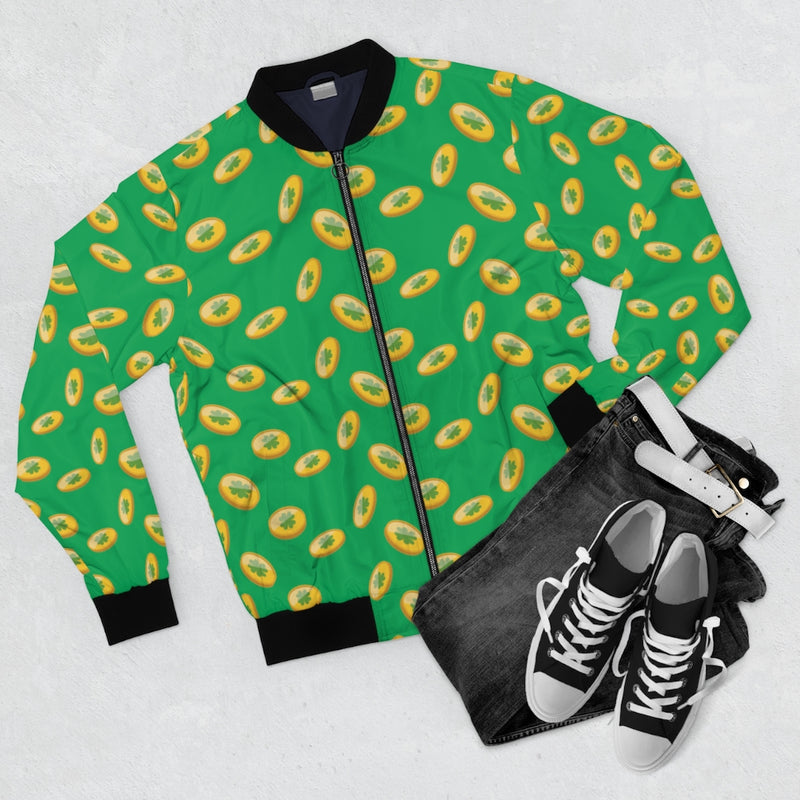 Clover coin Pattern | Men's Bomber Jacket-That Online Company