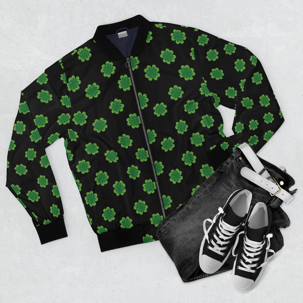 Clover Pattern | Men's Bomber Jacket-That Online Company