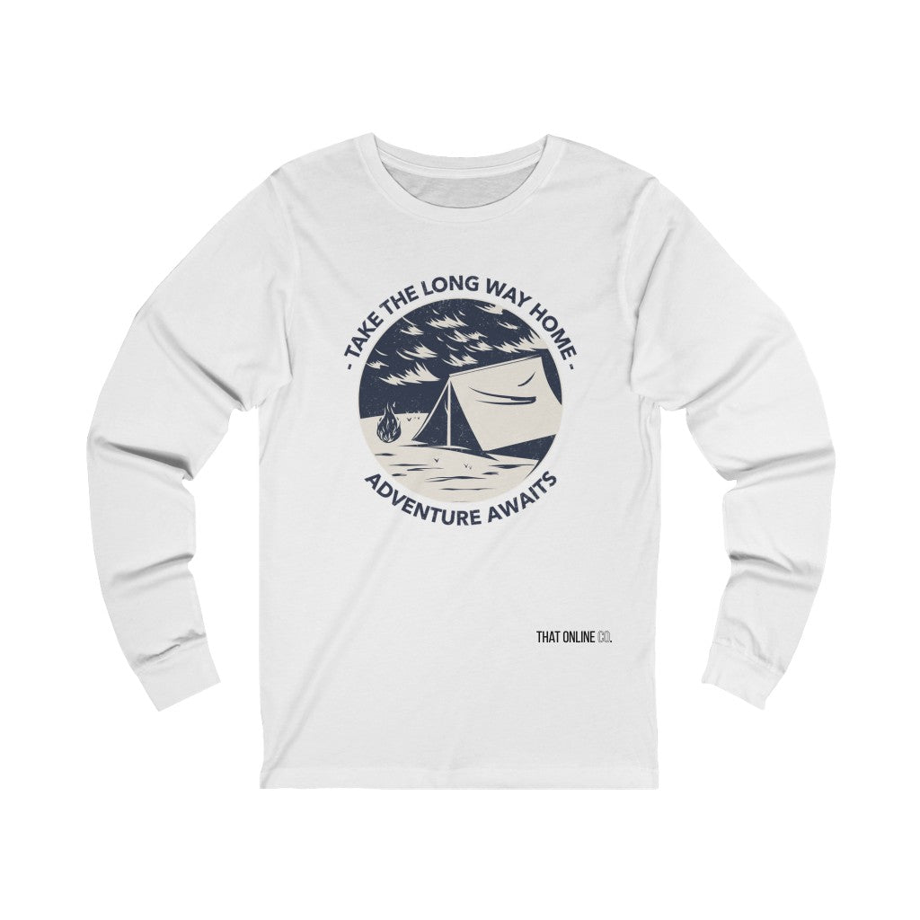 Adventure Awaits | Unisex Long Sleeve Tee-That Online Company