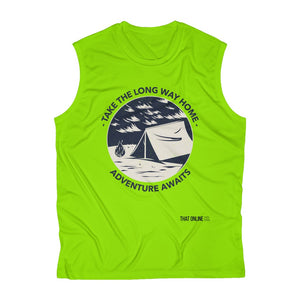 Adventure Awaits | Men's Sleeveless Performance Tee-That Online Company