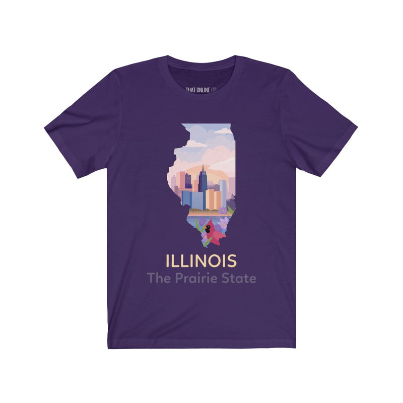 ILLINOIS | Unisex Jersey Tee-That Online Company