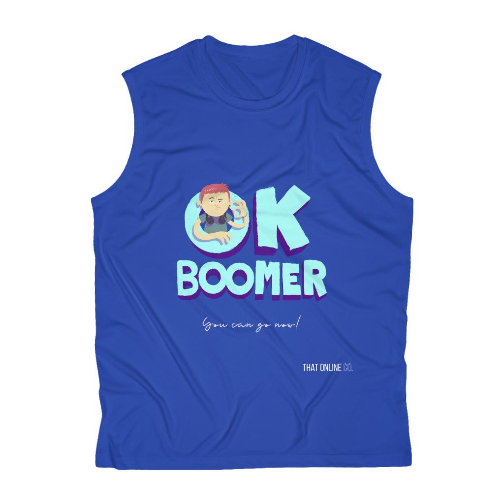 Ok Boomer | Men's Sleeveless Performance Tee-That Online Company