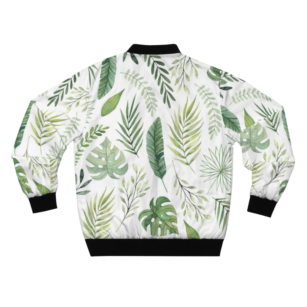 Leaf | Men's White Bomber Jacket-That Online Company