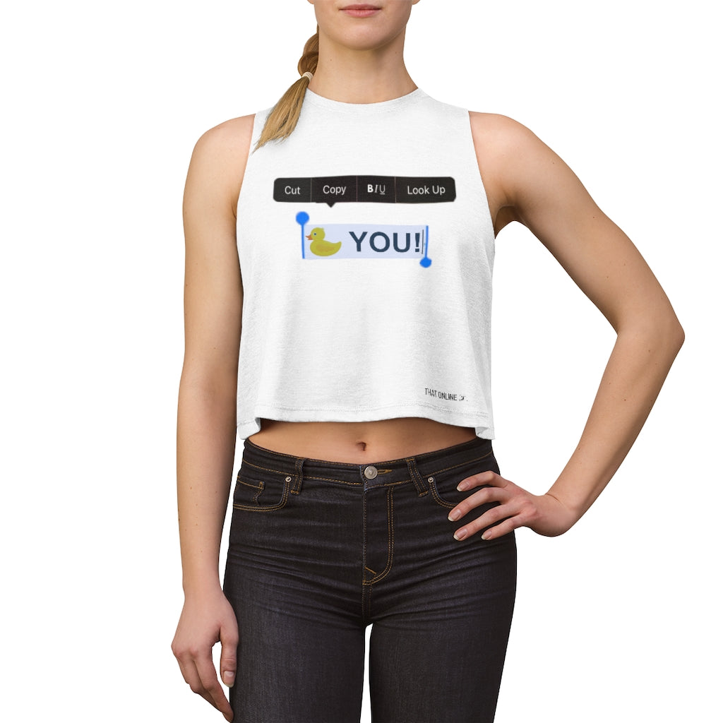 Duck You | Crop top-That Online Company