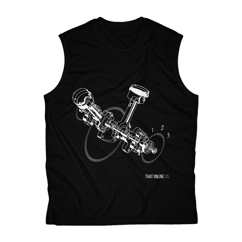 Car Engine | Men's Sleeveless Performance Tee-That Online Company