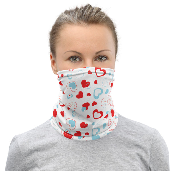 Heart Pattern (White) | Neck Gaiter-That Online Company